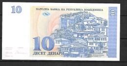 Macédoine :10 Dinara ,billet Neuf , Jamais Circulé - Macédoine
