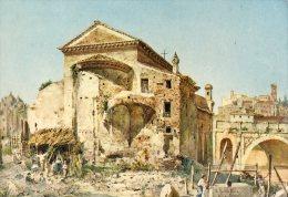 ETTORE ROESLER FRANZ SERIE ROMA SPARITA ABSIDE DELLA CHIESA DI S.SALVATORE( LOT U4) - Paintings