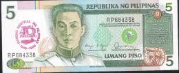 PHILIPPINES P177 5 PISO 1989    UNC. - Philippines