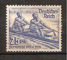 Germany 1936 - Rowing - Unused Stamps