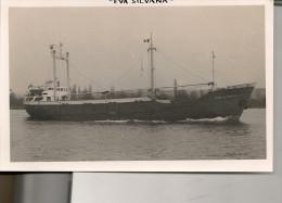 "Photo Bateau Navire "" Eva Silvana  ""  A E Sorensen 1963 Sietas Hambourg Marine Marchande Mer Ship - Bateaux"