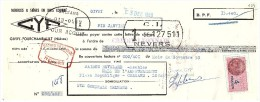 MANDAT. NIEVRE GIVRY-FOURCHAMBAULT. MEUBLES ET SIEGES EN BOIS COURBE. GYF. 1953 / 199 - Wechsel