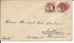 SVERIGE - 1888 - ENTIER ENVELOPPE Pour NORTHEIM (ALLEMAGNE)