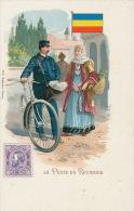 ROUMANIE - ROMANIA - Jolie Carte Fantaisie LA POSTE EN ROUMANIE (cycliste ) - Romania