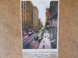 SAINT LOUIS MO OLIVE STREET TRAMWAY ET VOITURES ANCIENNES - Postcards