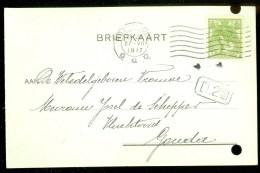 WW-1 * HANDGESCHREVEN BRIEFKAART COMITE VLUCHTELINGEN Uit 1917 Van ROTTERDAM Naar GOUDA  (9818P) - Periode 1891-1948 (Wilhelmina)