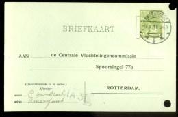 WW-1 * HANDGESCHREVEN BRIEFKAART COMITE VLUCHTELINGEN Uit 1918 Van AMERSFOORT Naar ROTTERDAM  (9818Q) - Periode 1891-1948 (Wilhelmina)
