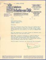 FACTURE LETTRE : HOLLANDE . ST ANNAPAROCHIE . FRIESLAND . MAISON MARTIN VAN DIJK . 1963 . - Pays-Bas