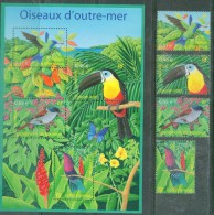 France 2003 - Oiseaux D'Outre-mer - YT 3548/51 + BF 56, Neufs** - France