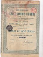 USINES ET FONDERIES D ALUMINIUM / BRUXELLES - Industrie