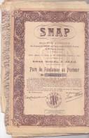 SNAP / SOCIETE ANONYME / SIEGE SOCIAL A PARIS 1926 - Non Classés
