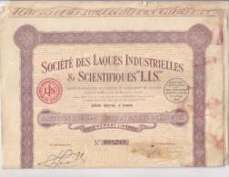 SOCIETE DES LAQUES INDUSTRIELLES / ACTION DE 250 FRANCS - Non Classés