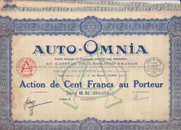 AUTO OMNIA / ACTION DE CENT FRANCS - Non Classés