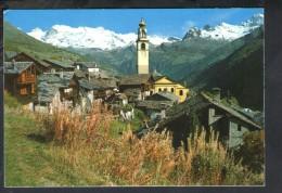 J1278 Val D´ Ayas - ANTAGNOD - SCORCIO PANORAMICO, CATENA DEL MONTE ROSA - 1297 ED. SACAT - Altre Città