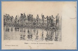 AFRIQUE  -- NIGER --  Groupe De Chasseurs Au Harpon - Niger
