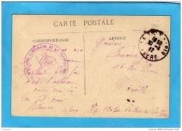 Guerre 14-18-Sce Santé-cachet Hopital Temporaire -la Tour Du Pin-isère  -cpa La Tour Du Pin  30 Avril1917 - Marcophilie (Lettres)