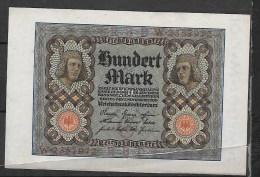Allemagne : 100 Mark  Billet Neuf, Jamais Circulé - [ 3] 1918-1933 : République De Weimar