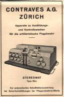 Original Werbung - 1939 - Apparat Zur Flugabwehr , Stereomat , Artillerie , Flak , Fliegerabwehr  Conraves AG In Zürich - Aviation