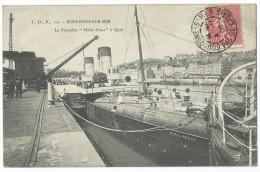 """BOULOGNE-SUR-MER (Pas De Calais)  - Le Paquebot """"Mabel Grace"""" à Quai - Animée - Boulogne Sur Mer"""