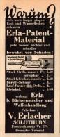 Original Werbung - 1939 - Reiniger Für Gewehr Und Pistole , V. Erlacher In Solothurn , Erla-Patent !!! - 1939-45