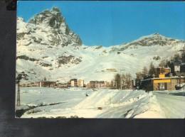 J2793 CERVINIA BREUIL - PANORAMA CON M. CERVINO - MONTAGNA, NEVE - ED. CAPURSO 232 - USED 1966 - Altre Città
