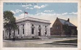 Wisconsin Kenosha Post Office Andf Court House 1918 - Kenosha