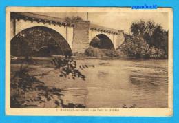 BAGNOLS-sur-CÈZE (Gard) LE PONT DE LA CÈZE. - 1931 - - Bagnols-sur-Cèze