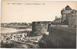 I3036 Saint Malo - La Plage Et Le Chateau - Castillo Castello Castle Schloss / Non Viaggiata - Saint Malo