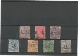 AUSTRALIA 1855-1912, LOTE DE 7 SELLOS CLASICOS DE SERVICIO - AUSTRALIA DEL SUR - 1855-1912 South Australia