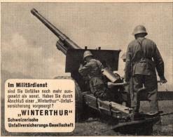 Original Werbung - 1939 - Winterthur , Militär-Unfallversicherung !!! - 1939-45