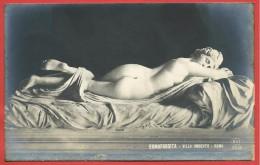 CARTOLINA NV ITALIA - ROMA - Villa Umberto - Ermafrodita - 9 X 14 - Sculture