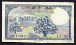 BILLET BANQUE DU LIBAN- 100 LIVRES -  BON ASPECT GENERAL- 2 SCANS - Indochine