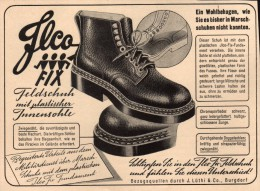 Original Werbung - 1939 - ILCO - Marschschuhe , J. Lüthi & Co. In Burgdorf , Armee !!! - 1939-45