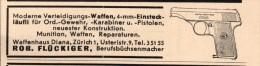 Original Werbung - 1939 - Waffenhaus , Robert Flückiger In Zürich , Pistole , Büchsenmacher !!! - 1939-45