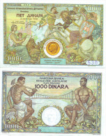 PHANTASY BANKNOTE 1000 DINARA - 1998 YEAR Numizmatics Tikets - Serbien