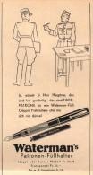 Original Werbung - 1939 - Waterman`s , Patronen - Federhalter , Füllfederhalter !!! - Stylos