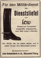 Original Werbung - 1939 - Schuhfabrik Löw In Oberaach , Thurgau , Gamaschen , Armee , Schuhe !!! - 1939-45