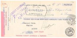 MANDAT. HAUTE-VIENNE AIXE-SUR-VIENNE. SOCIETE DES MOULINS DE SAINT GERALD GEORGES LACROIX 1933 / 253 - Lettres De Change