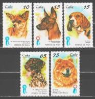 Cuba 1998 Kuba Mi 4101-4105 Dogs / Hunderassen: Ausstellungssieger **/MNH - Chiens