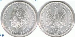 ALEMANIA 5 DEUTSCHE MARK F BEETHOVEN 1970 PLATA SILVER D2 - [ 6] 1949-1990 : RDA - Rep. Dem. Alemana