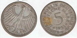 ALEMANIA 5 DEUTSCHE MARK G  1951 PLATA SILVER D34 - [ 6] 1949-1990 : RDA - Rep. Dem. Alemana