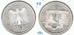 ALEMANIA 10 DEUTSCHE MARK F 1993 POSTDAM PLATA SILVER - [ 6] 1949-1990 : RDA - Rep. Dem. Alemana