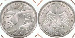 ALEMANIA 10 DEUTSCHE MARK F EMBLEMA 1972 PLATA SILVER D3 - [ 6] 1949-1990 : RDA - Rep. Dem. Alemana