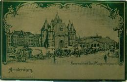 Amsterdam - Nieuwmarkt - Vischmarkt - Litho - 1899 - Amsterdam
