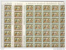 1962 Vaticano Vatican NATALE  CHRISTMAS 40 Serie Di 3v. In Foglio MNH** Sheets - Nuovi