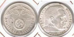 ALEMANIA DEUTSCHES REICH 5 MARK 1938 A  PLATA SILBER. D31 - [ 4] 1933-1945 : Third Reich