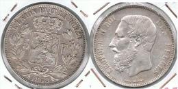 BELGICA 5 FRANCS 1868 PLATA SILVER D33 - 1865-1909: Leopold II