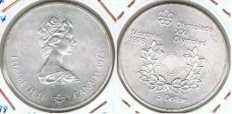 CANADA 5 DOLLARS  MONTREAL  AROS 1974 PLATA SILVER - Canada