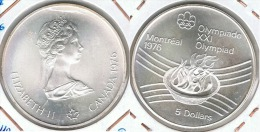 CANADA 5 DOLLARS  MONTREAL  LLAMA 1976 PLATA SILVER - Canada