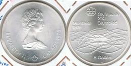 CANADA 5 DOLLARS  MONTREAL  NATACION 1975 PLATA SILVER - Canada